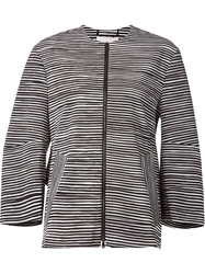 Schumacher Printed Zip Coat Black