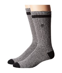 Timberland Rugged Heritage 2 Pack Crew Socks Grey Navy Men's Crew Cut Socks Shoes Multi