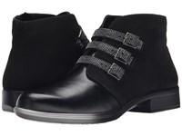 Naot Footwear Vardar Black Madras Leather Black Velvet Nubuck Women's Boots