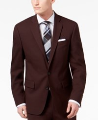 Ryan Seacrest Distinction Men's Slim Fit Stretch Burgundy Solid Suit Jacket Created For Macy's
