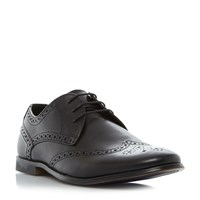 Howick Pirate Round Toe Brogue Shoe Black