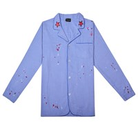 Kloters Milano Light Denim Pyjamas With Spray Spots Blue