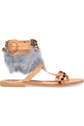 Mabu By Maria Bk Aten Embellished Leather Sandals It37