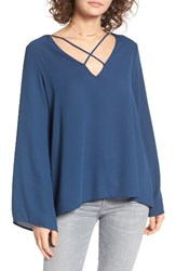 Lush Women's Cross Front Blouse Insignia B