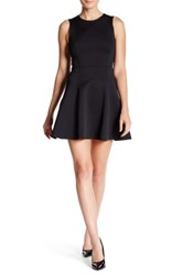 Theory Tillora Mod Knit Fit And Flare Dress Black