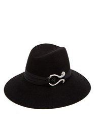 Maison Michel Kate Felt Fedora Hat Black