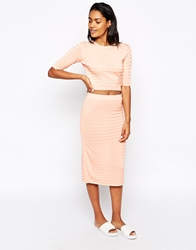 Won Hundred Alu Tube Skirt In Knit Pink