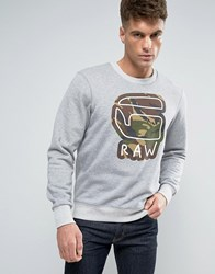 G Star Cheldan Sweater Grey Htr