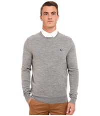 Fred Perry Classic Crew Neck Sweater Steel Marl Men's Sweater Gray