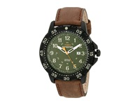 Timex Expedition Rugged Resin Dial Leather Strap Watch Green Black Brown Watches