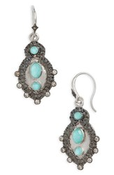 Armenta New World Turquoise Doublet Drop Earrings Silver Turquoise