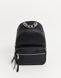 Dkny Backpack With Chain Detail Black