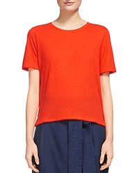 Whistles Pom Pom Tee Red