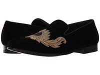Alexander Mcqueen Embroidered Evening Slipper Black