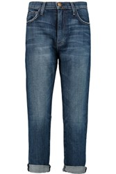 Current Elliott The Slouchy Mid Rise Straight Leg Jeans Mid Denim