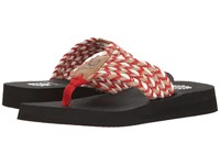 Yellow Box Knit Red Women's Sandals