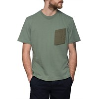 Monitaly Olive Pocket T Shirt Green