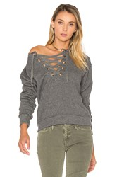 Mother The Tie Up Easy Sweatshirt Grey