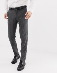 Selected Homme Suit Trouser With Stretch In Slim Fit Mid Grey