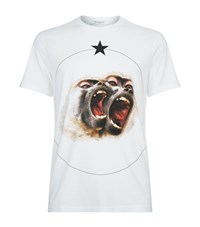 Givenchy Monkey Brothers Cuban Fit T Shirt Male White