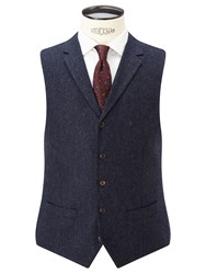 John Lewis And Co. Bennett Donegal Wool Tailored Waistcoat Blue