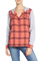 The North Face Women's Campground Shacket Cayenne Red Plaid
