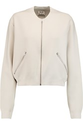 Acne Studios Olympia Stretch Knit Bomber Jacket Gray