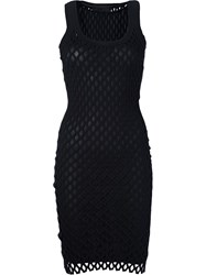 Alexander Wang Netted Mini Dress Black