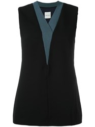 Paul Smith V Neck Tank Top Black
