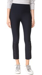 Derek Lam Laced Sides Leggings Midnight