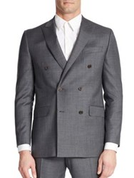 Tallia Orange Double Breasted Suit Jacket Grey