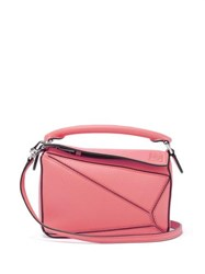 Loewe Puzzle Mini Grained Leather Cross Body Bag Pink