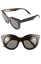 Victoria Beckham Women's 49Mm Cat Eye Sunglasses Black On Dark Horn