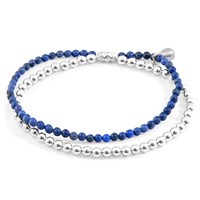Anchor And Crew Blue Dumortierite Harmony Silver Stone Bracelet Blue Silver