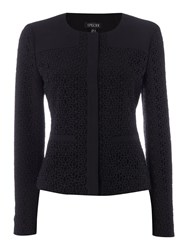 Episode Textured Lace Jacket Black