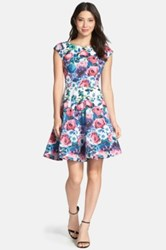 Felicity And Coco Stretch Cotton Fit And Flare Dress Purple