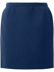 Delpozo Straight Mini Skirt Blue