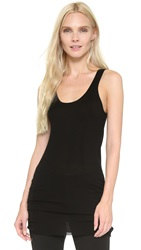 Tess Giberson Elongated Tank Black