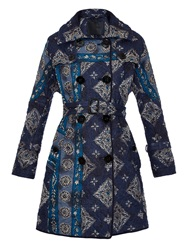Burberry Paisley Print Quilted Trench Coat