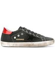 Golden Goose Deluxe Brand Superstar Sneakers Women Leather Canvas Rubber 40 Black