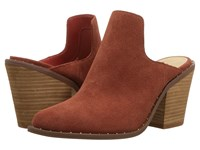 Chinese Laundry Springfield Mule Clay Suede High Heels Brown