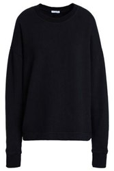 James Perse French Cotton Terry Sweatshirt Black