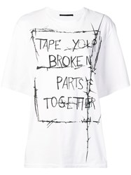 Haider Ackermann Oversized T Shirt White