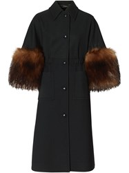 Burberry Cape Style Buttoned Coat 60