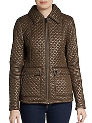 Saks Fifth Avenue Blue Lightweight Quilted Jacket Olive