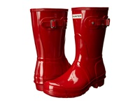 Hunter Original Short Gloss Military Red Women's Rain Boots Tan