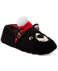Pj Couture Women's Holiday Bear Slippers Black