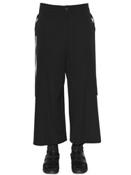 Damir Doma Cropped Wool Gabardine Wide Pants