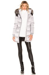 Soia And Kyo Alenne Jacket With Fur Trim Gray