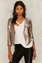 Nasty Gal Collection Dionne Sequin Blazer Animal